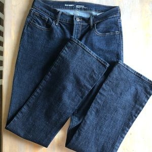 Extra dark wash Old Navy bootcut jeans